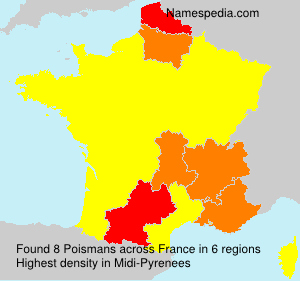 Surname Poismans in France