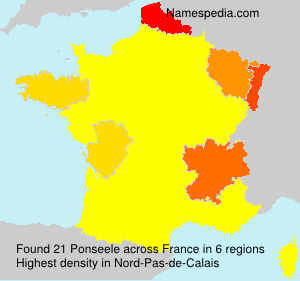 Surname Ponseele in France