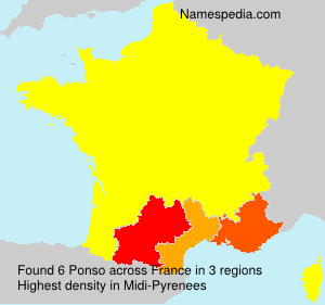 Surname Ponso in France