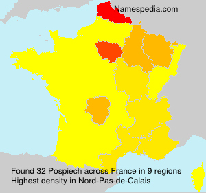 Surname Pospiech in France