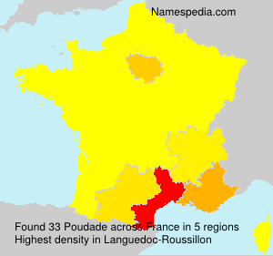 Surname Poudade in France