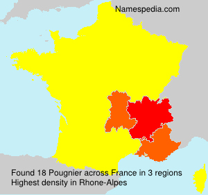Surname Pougnier in France