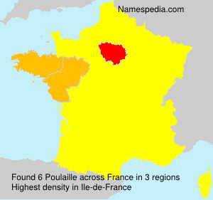 Surname Poulaille in France