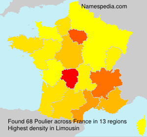 Surname Poulier in France