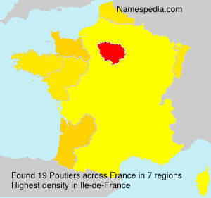 Surname Poutiers in France
