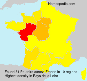 Surname Poutoire in France