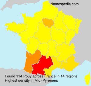 Surname Pouy in France