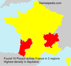 Surname Pouyot in France