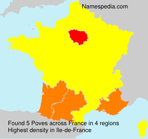Surname Poves in France