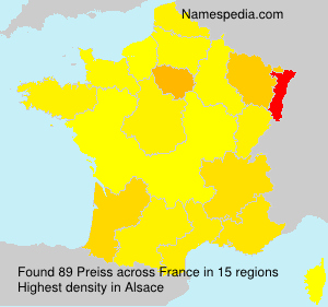 Surname Preiss in France