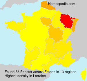 Surname Priester in France