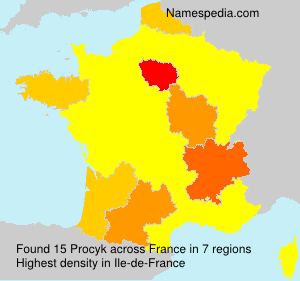 Surname Procyk in France