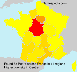Surname Puard in France
