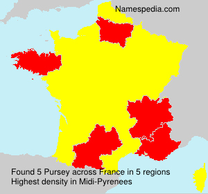 Surname Pursey in France