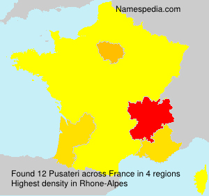 Surname Pusateri in France