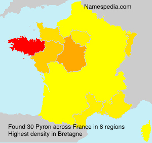Surname Pyron in France