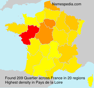 Surname Quartier in France