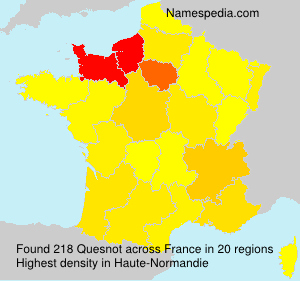 Surname Quesnot in France