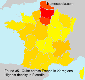 Surname Quint in France