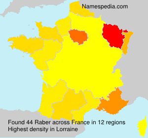 Surname Raber in France