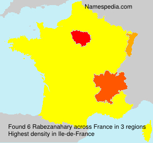 Surname Rabezanahary in France