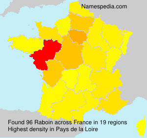 Surname Raboin in France