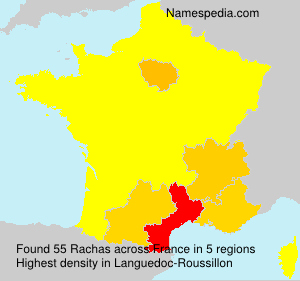 Surname Rachas in France
