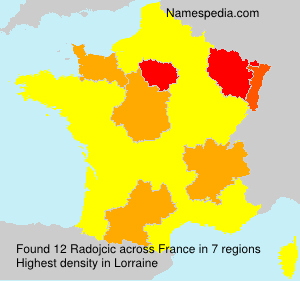 Surname Radojcic in France