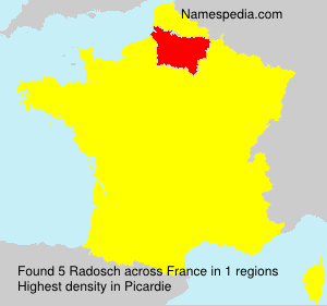 Surname Radosch in France