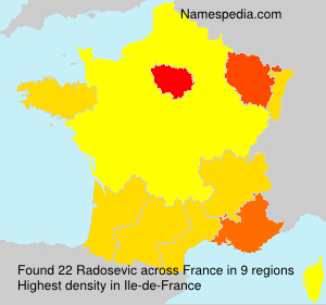 Surname Radosevic in France