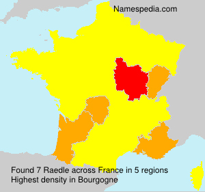 Surname Raedle in France