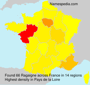 Surname Ragaigne in France