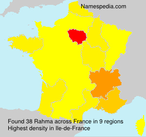 Surname Rahma in France