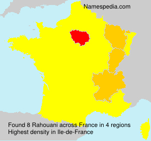 Surname Rahouani in France