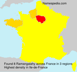 Surname Ramangalahy in France