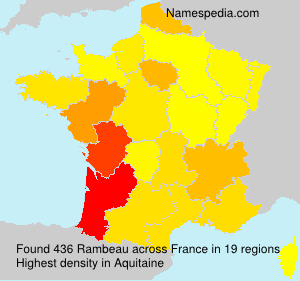 Surname Rambeau in France