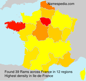 Surname Rams in France