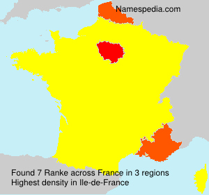 Surname Ranke in France