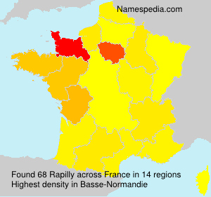 Surname Rapilly in France