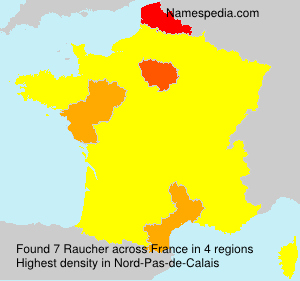 Surname Raucher in France