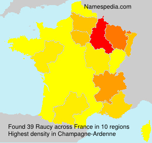 Surname Raucy in France