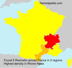 Surname Ravinetto in France