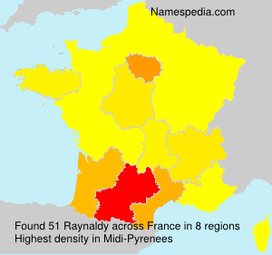 Surname Raynaldy in France