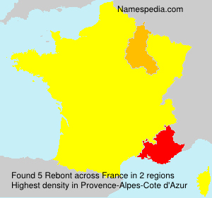 Surname Rebont in France