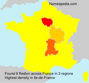 Surname Redion in France