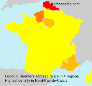 Surname Reemers in France