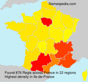 Surname Regis in France