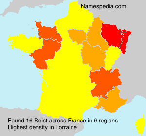 Surname Reist in France