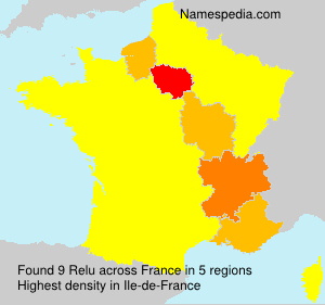 Surname Relu in France