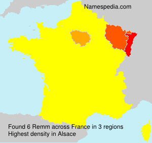Surname Remm in France